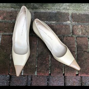 Martinez Valero Two Tone Heels